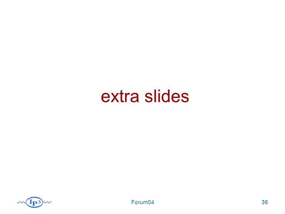 Forum0436 extra slides