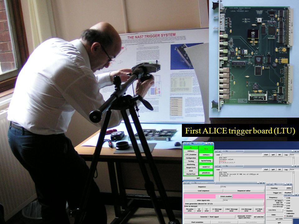 Roman Lietava, University of Birmingham UK HEP Forum 14 First ALICE trigger board (LTU)