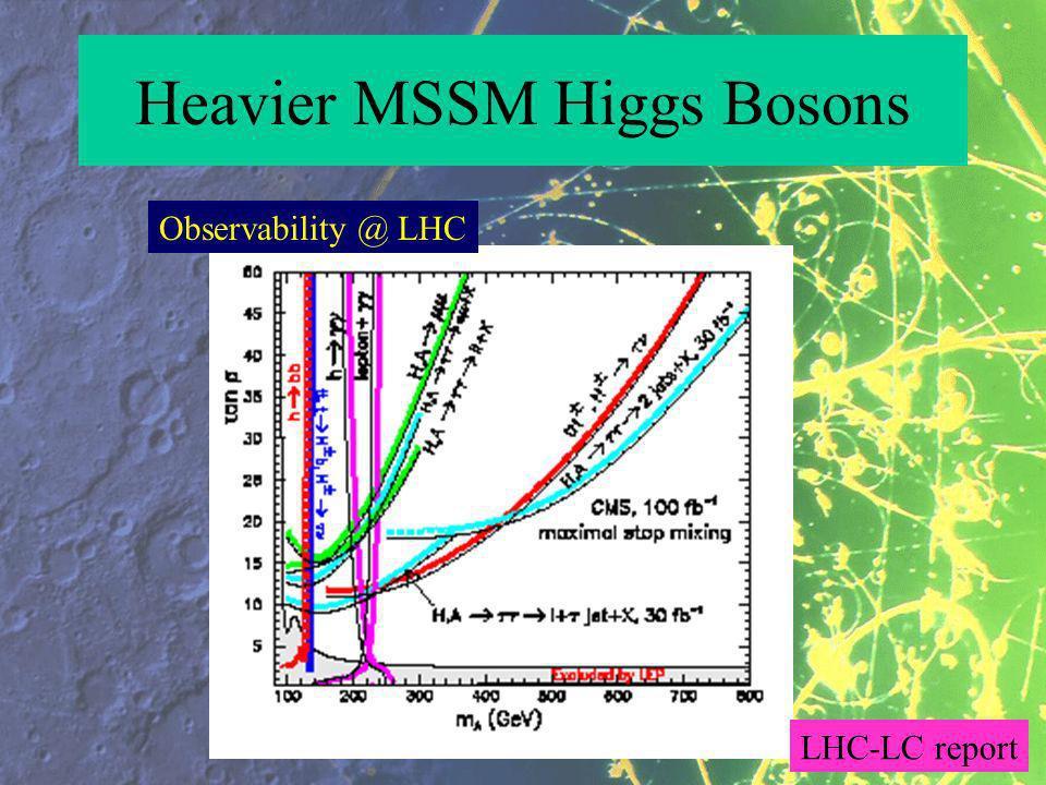 Heavier MSSM Higgs Bosons Observability @ LHC LHC-LC report