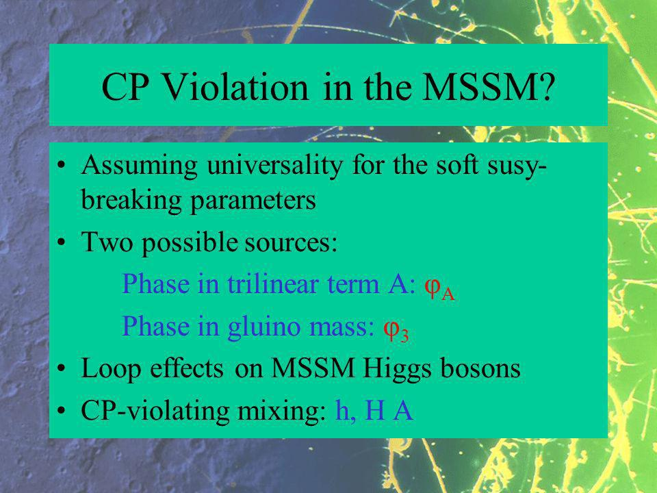 CP Violation in the MSSM.