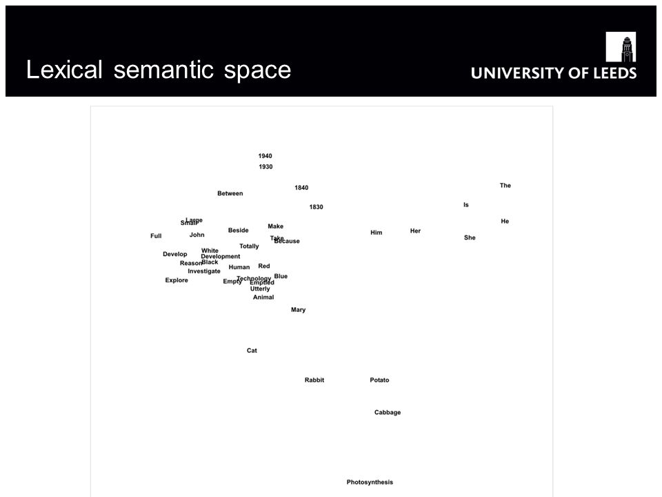 Lexical semantic space