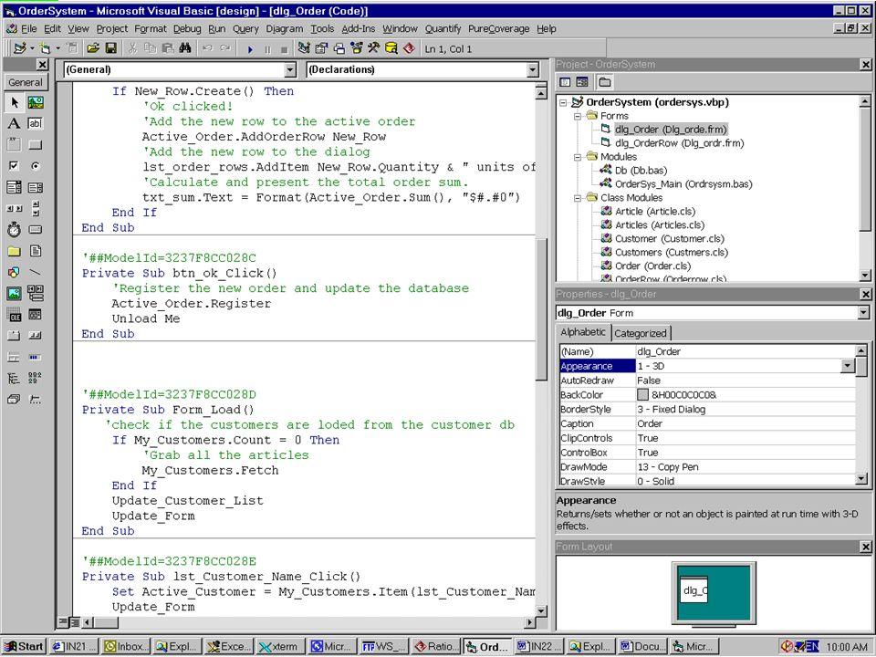 Order System in Visual Studio