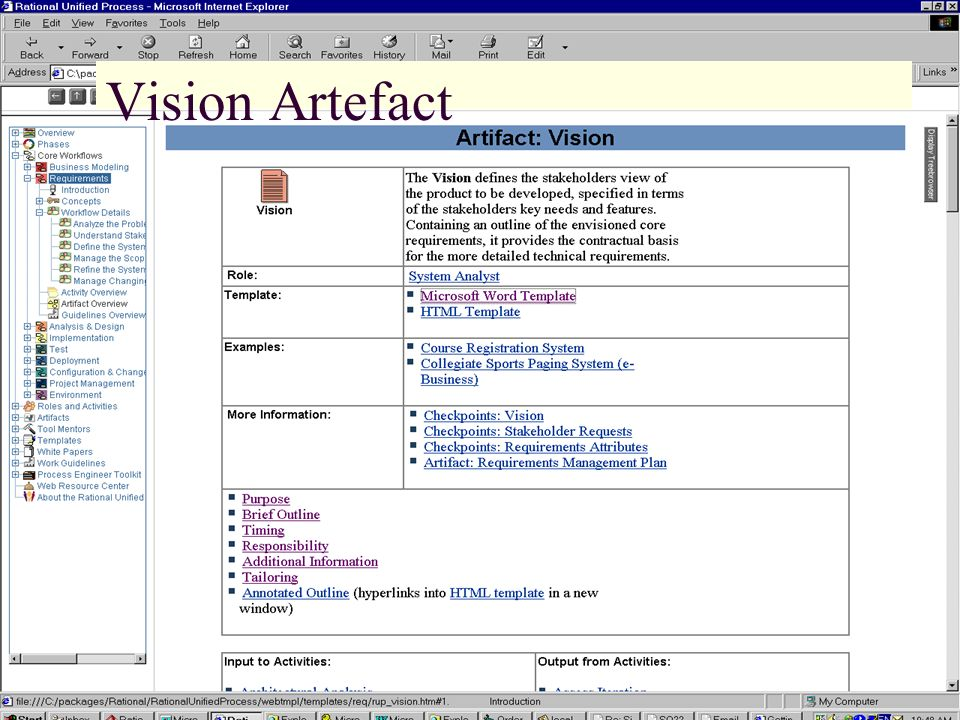 Vision Artefact