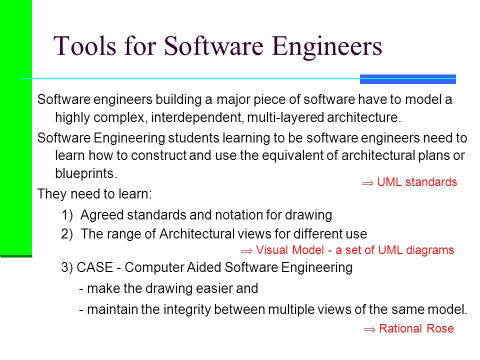Software engineers building a major piece of software have to model a highly complex, interdependent, multi-layered architecture. Software Engineering