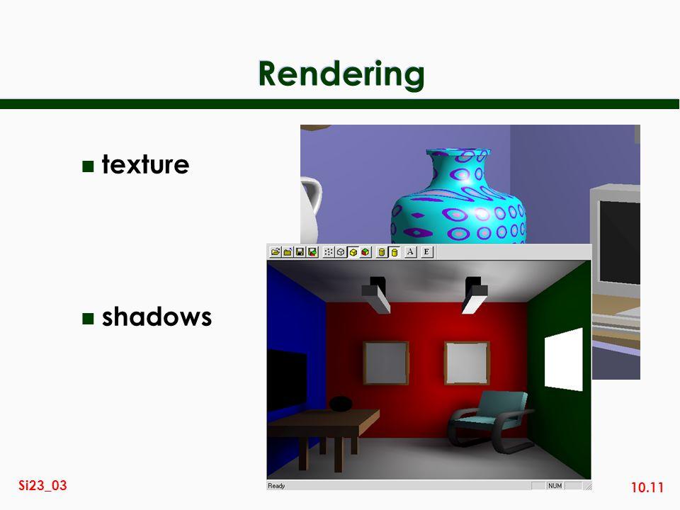 10.11 Si23_03 Rendering n texture n shadows