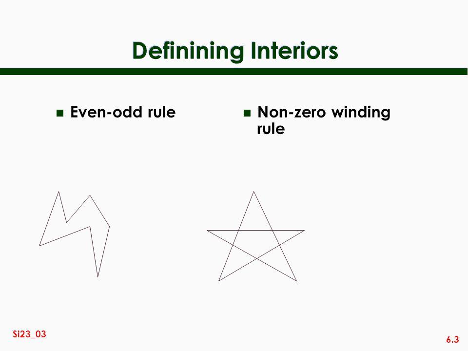 6.3 Si23_03 Definining Interiors n Even-odd rule n Non-zero winding rule