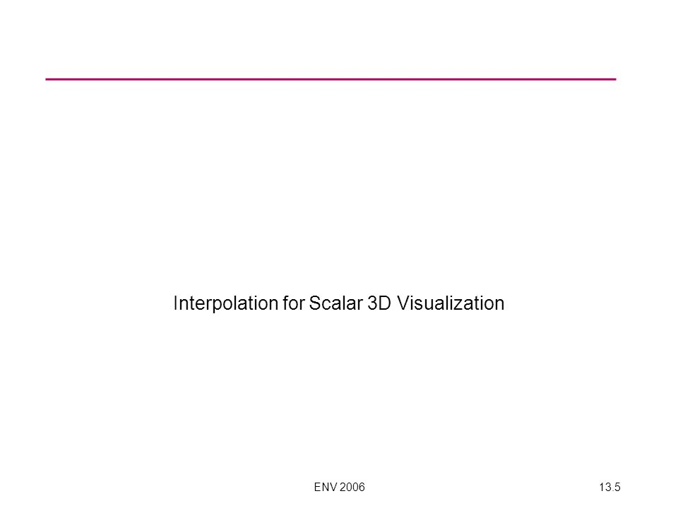 ENV 200613.5 Interpolation for Scalar 3D Visualization
