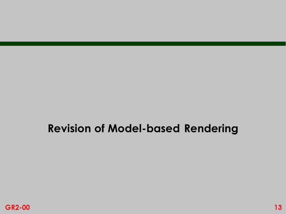 13GR2-00 Revision of Model-based Rendering