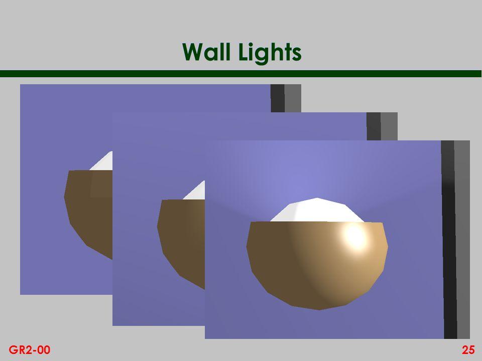 25GR2-00 Wall Lights