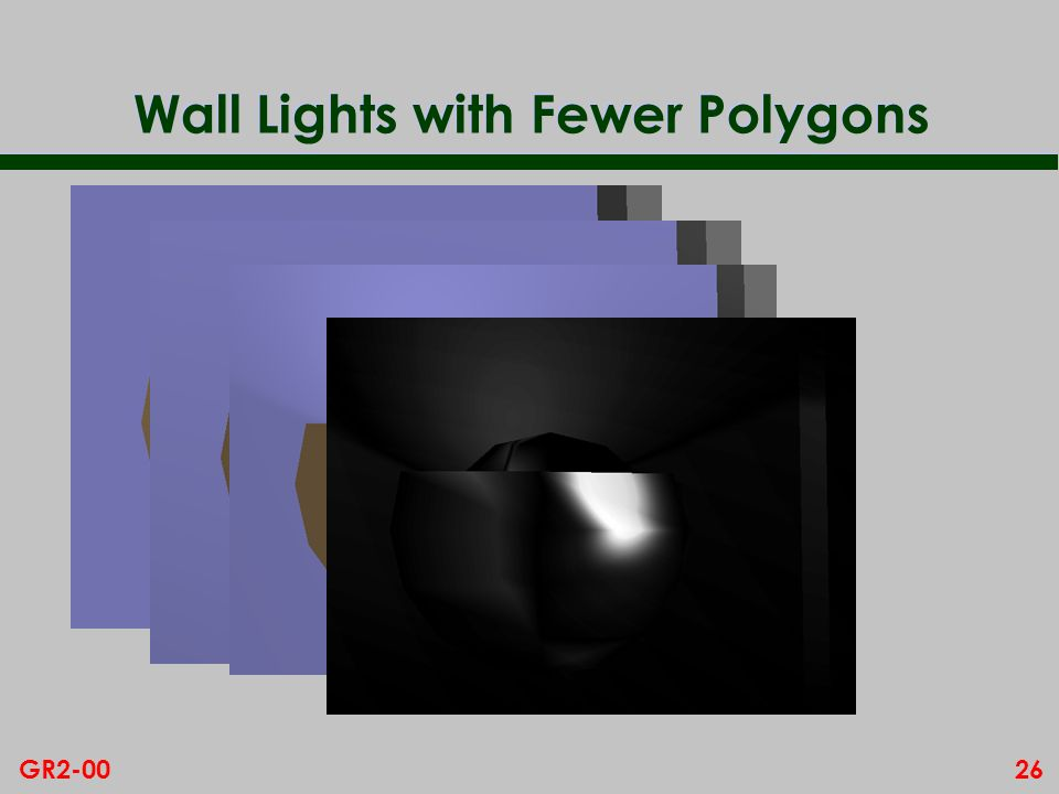 26GR2-00 Wall Lights with Fewer Polygons