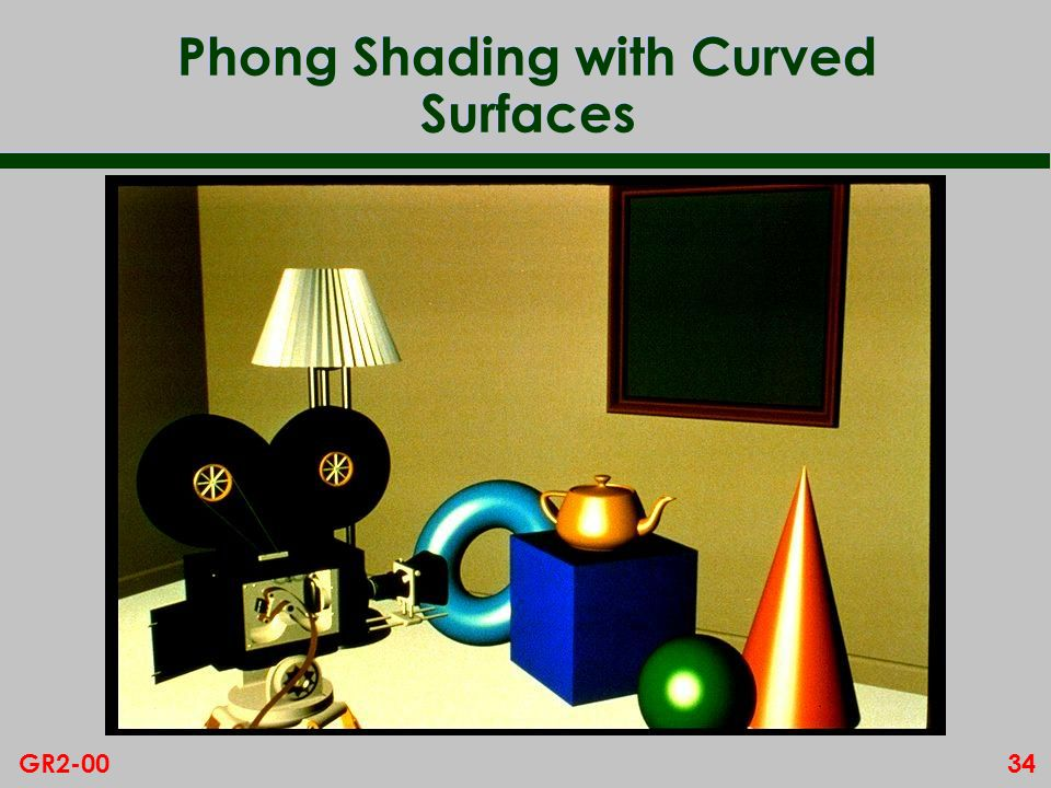 34GR2-00 Phong Shading with Curved Surfaces