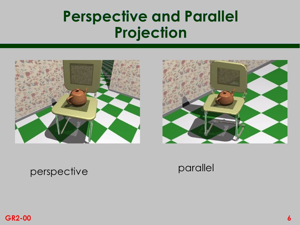 6GR2-00 Perspective and Parallel Projection perspective parallel