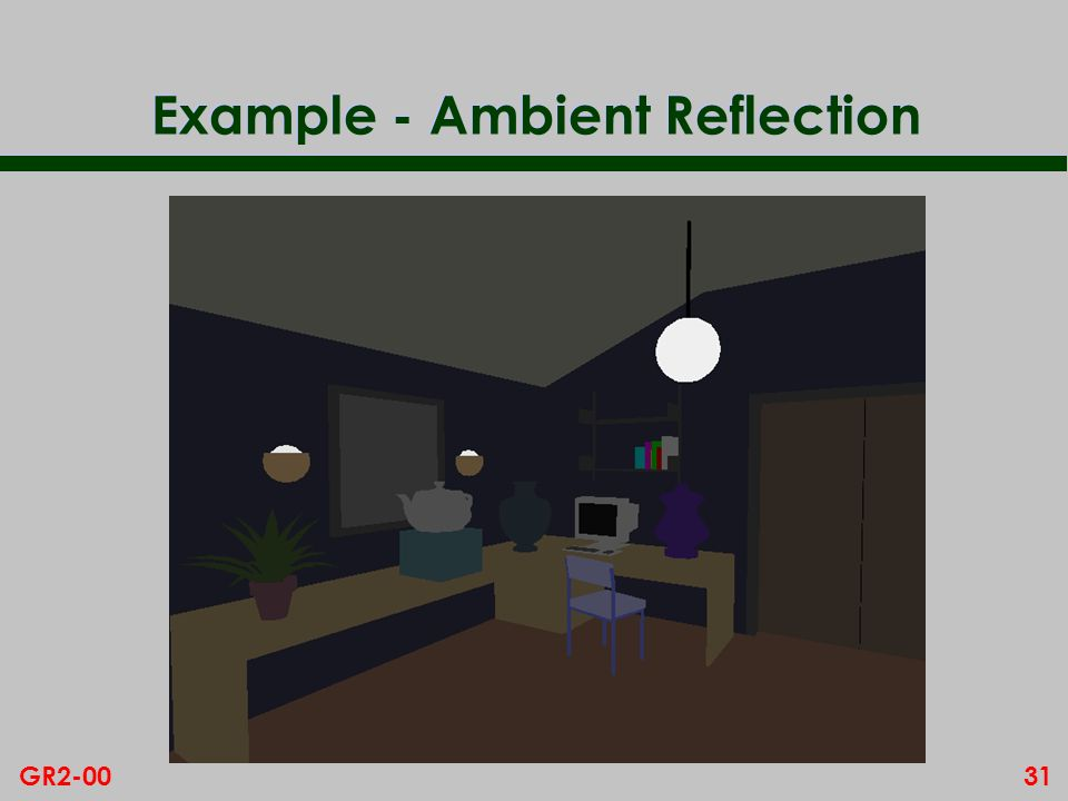 31GR2-00 Example - Ambient Reflection
