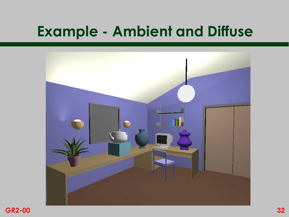 32GR2-00 Example - Ambient and Diffuse