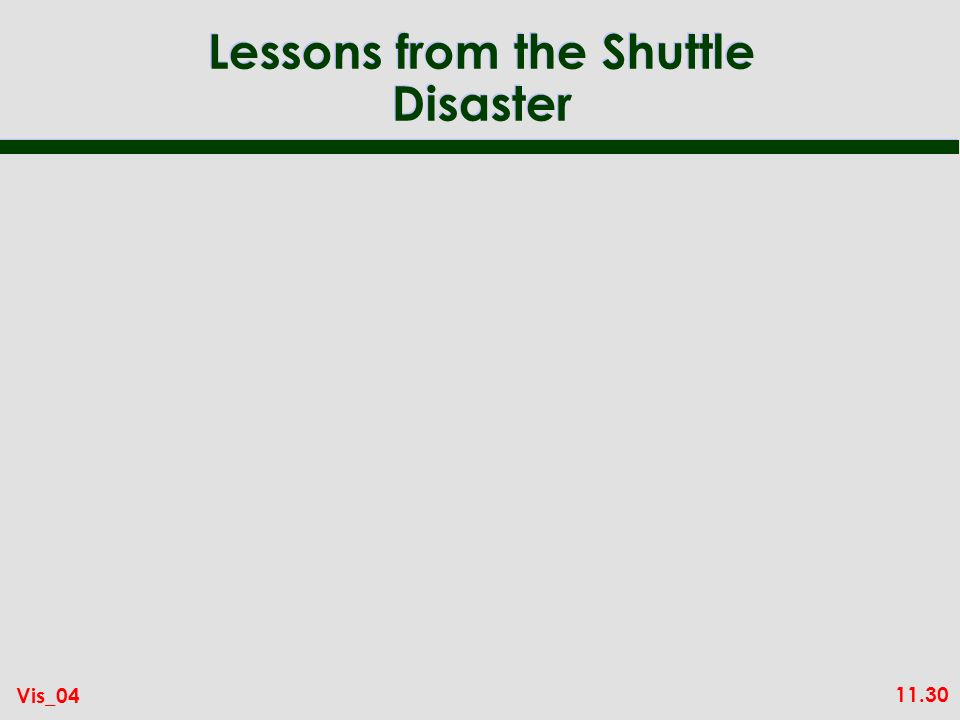 11.30 Vis_04 Lessons from the Shuttle Disaster
