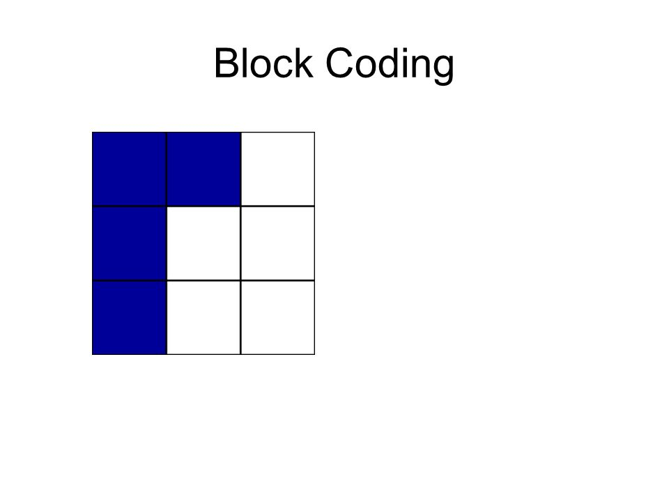 Block Coding piece_Top { BLUE, BLUE, NONE }, { BLUE, NONE, NONE }, { BLUE, NONE, NONE } piece_Left { BLUE, BLUE, BLUE }, { NONE, NONE, BLUE }, { NONE, NONE, NONE } piece_Bottom { NONE, NONE, BLUE }, { NONE, BLUE, BLUE } piece_Right { NONE, NONE, NONE }, { BLUE, NONE, NONE }, { BLUE, BLUE, BLUE }