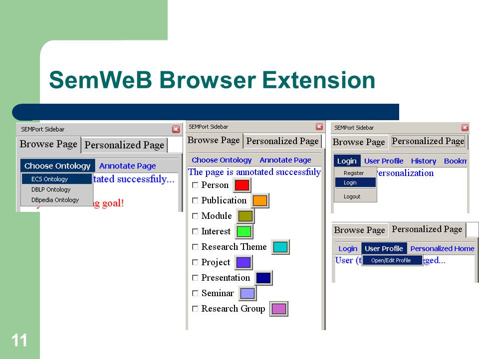 11 SemWeB Browser Extension