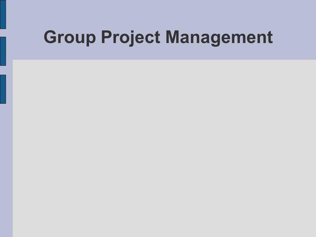 Group Project Management