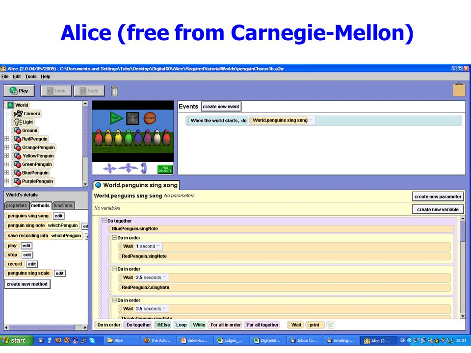 The University of Manchester The University of Manchester CPHC Workshop, April 20094 Alice (free from Carnegie-Mellon)