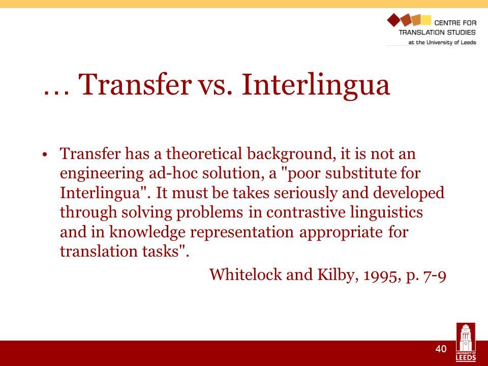 40 … Transfer vs.