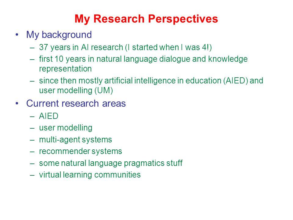 The Ecological Approach to E-Learning Gord McCalla ARIES Laboratory Department of Computer Science University of Saskatchewan Saskatoon, Saskatchewan