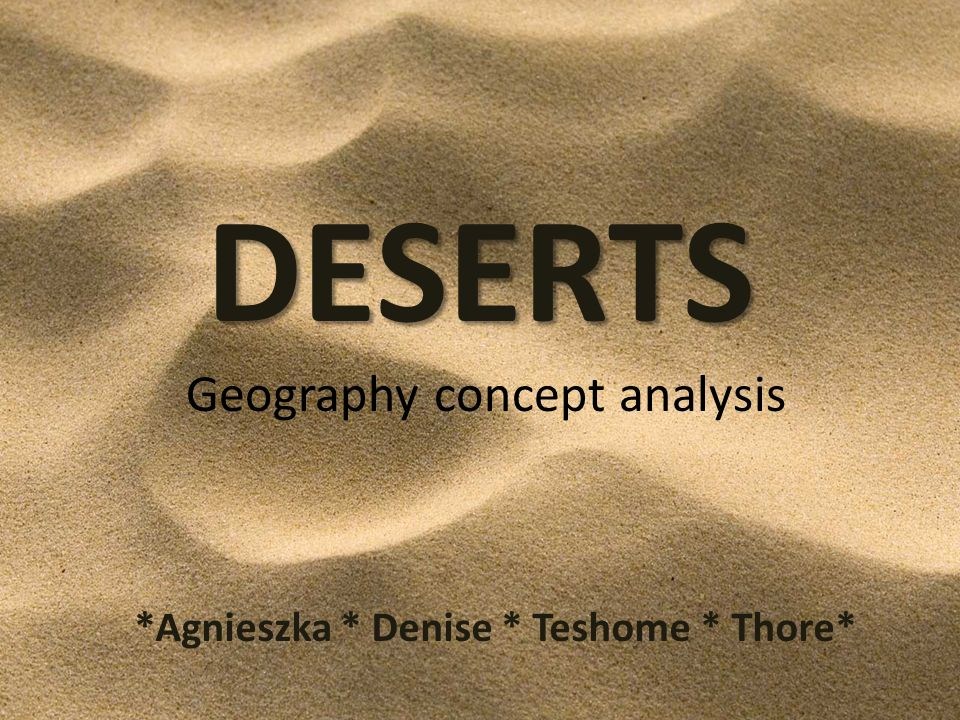 Ambiguities and Modes of Classification desert != dry land : e.g.