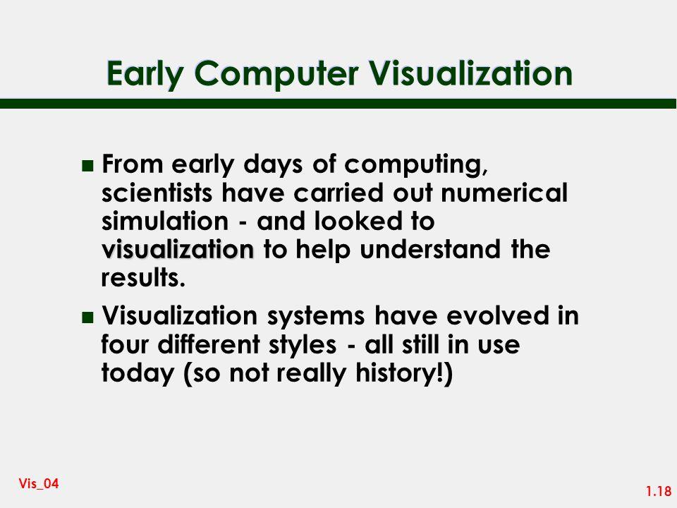 1.17 Vis_04 Visual Thinkers n Many of the great scientists were good at visual thinking: – Leonardo da Vinci – James Clerk Maxwell – Michael Faraday –