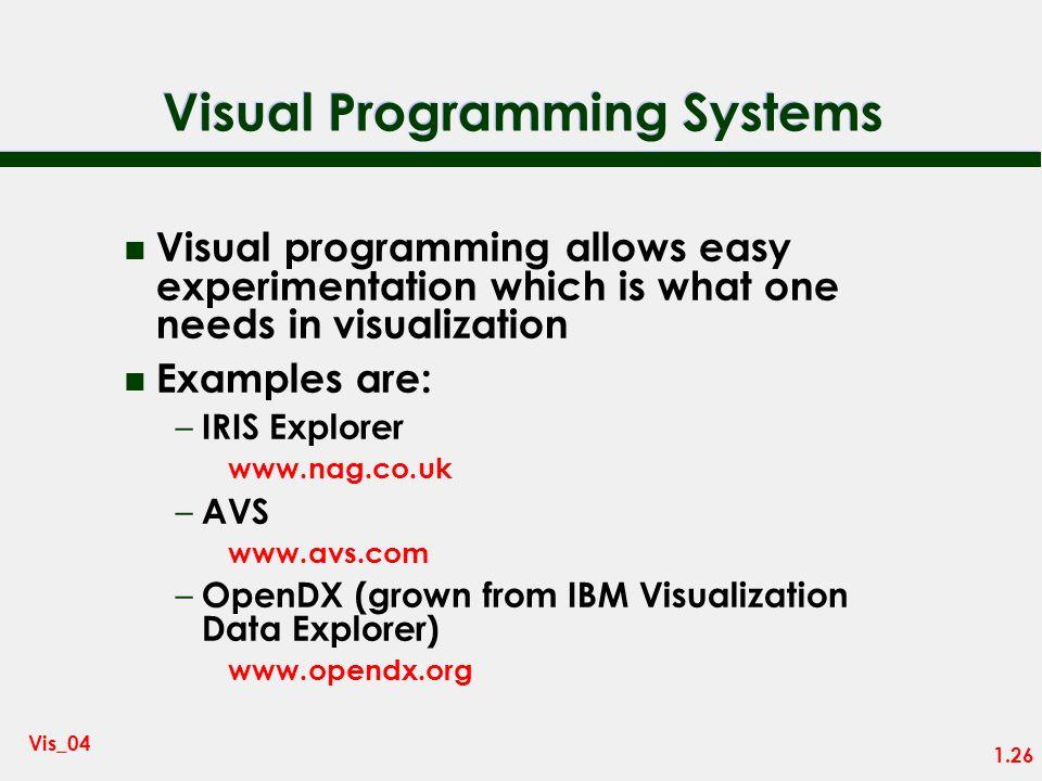 1.25 Vis_04 Visual Programming - IRIS Explorer