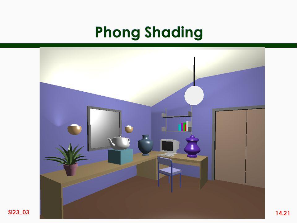 14.21 Si23_03 Phong Shading