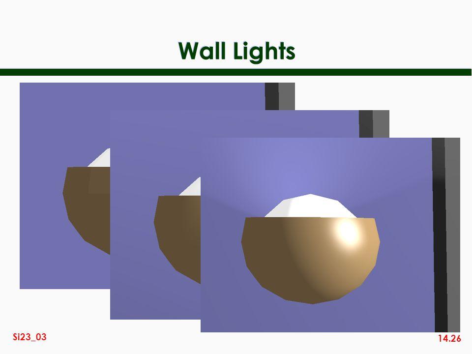 14.26 Si23_03 Wall Lights