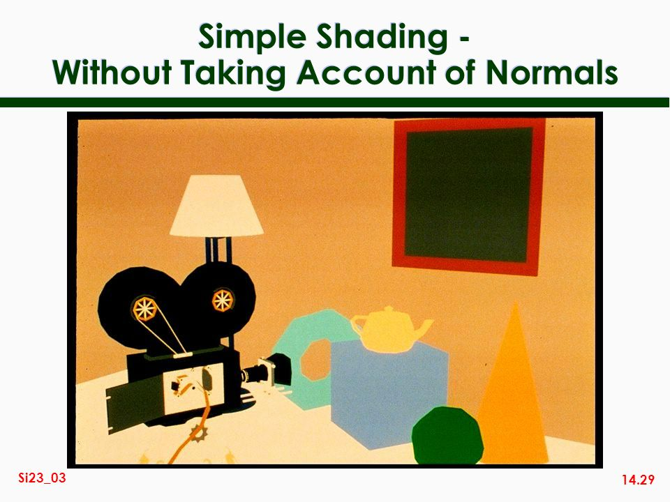 14.29 Si23_03 Simple Shading - Without Taking Account of Normals