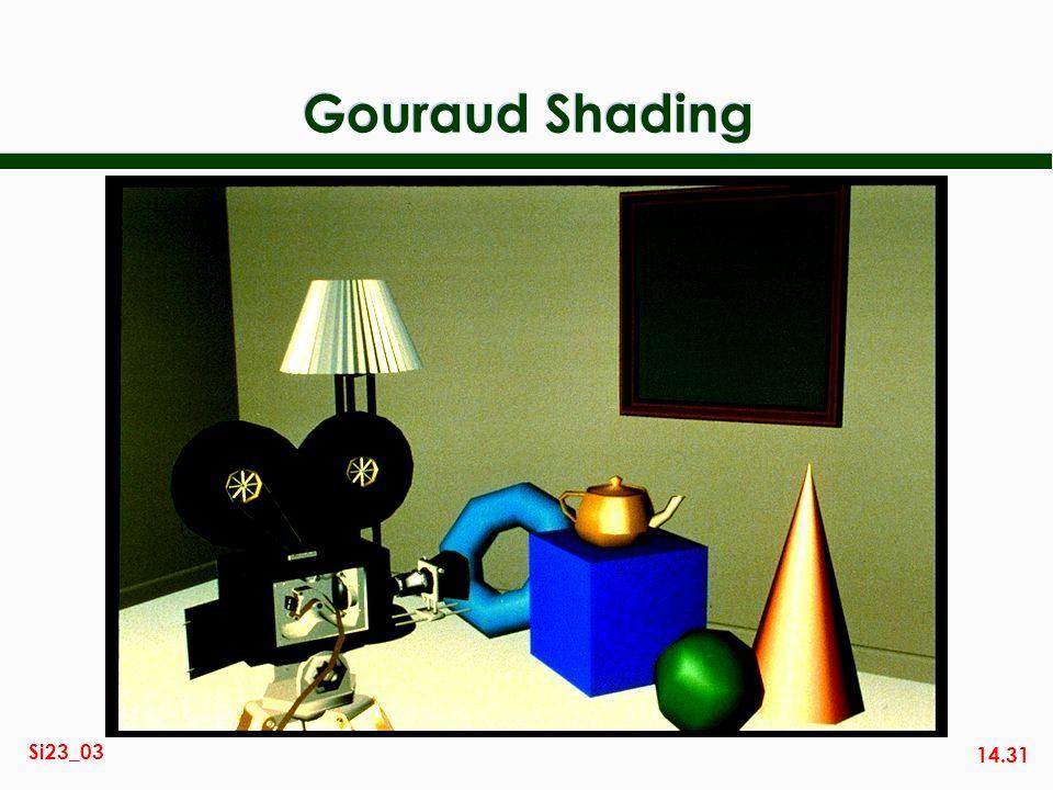 14.31 Si23_03 Gouraud Shading