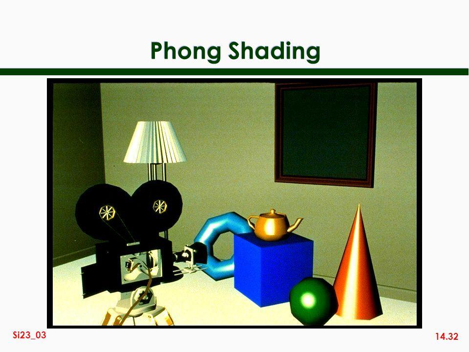 14.32 Si23_03 Phong Shading
