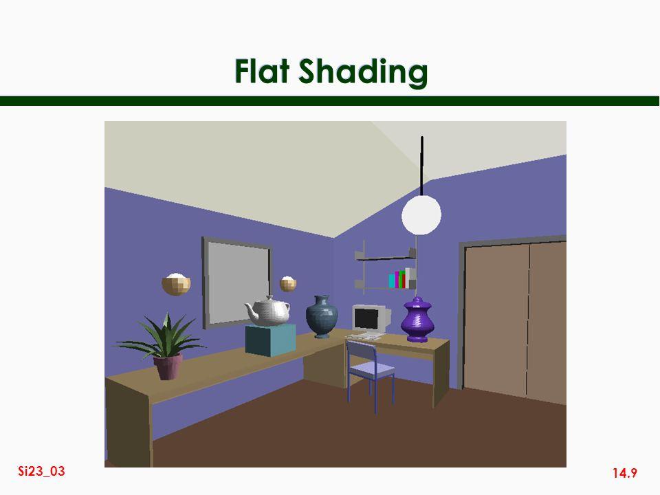 14.9 Si23_03 Flat Shading