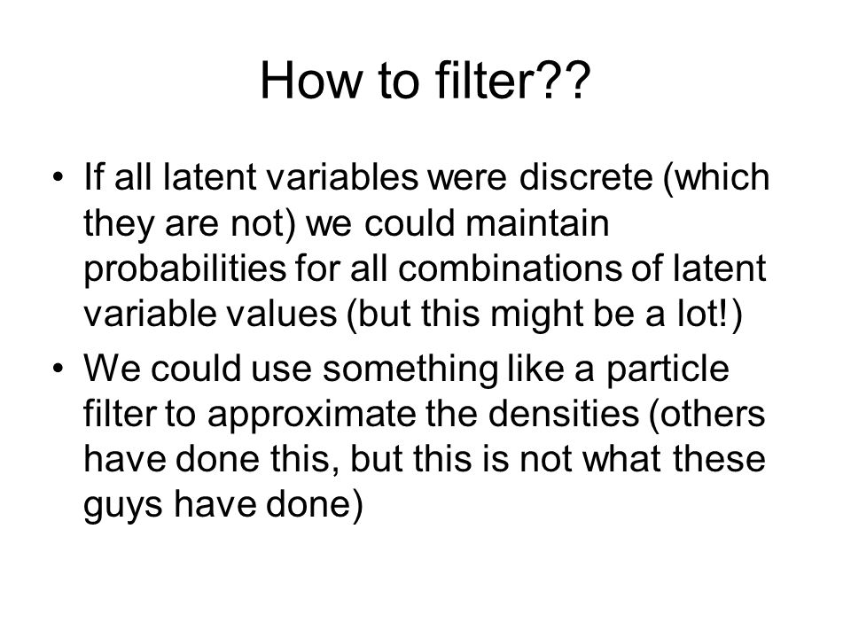 How to filter .
