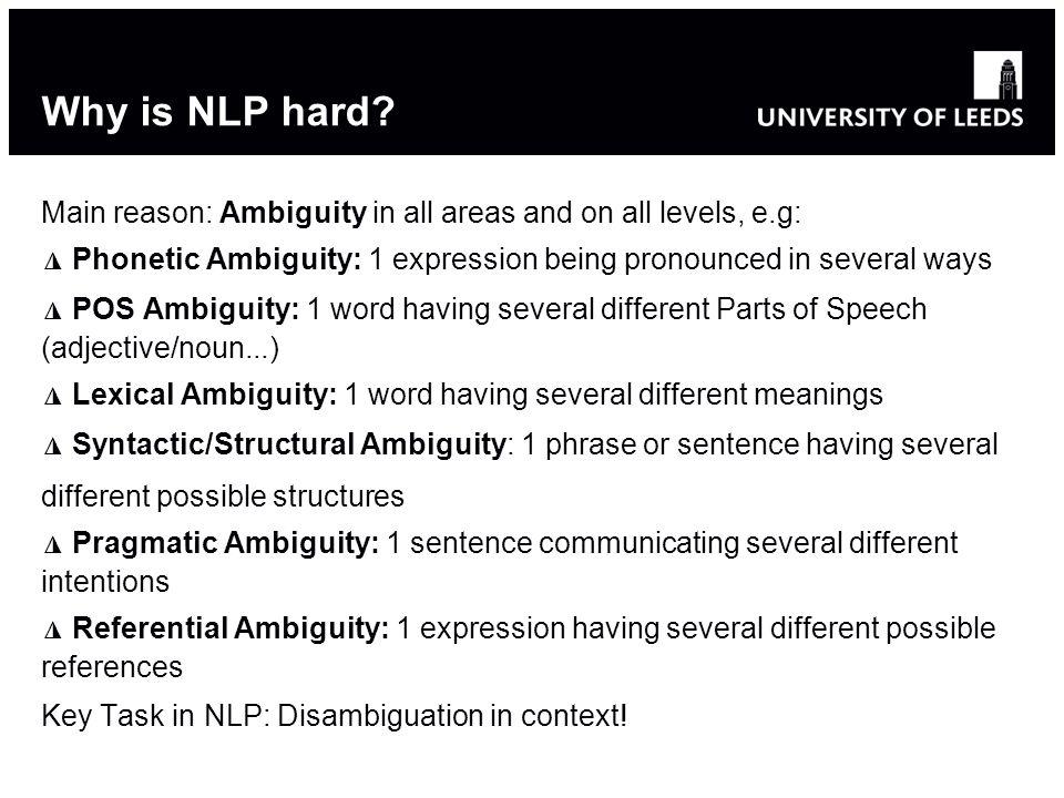 Why is NLP hard.