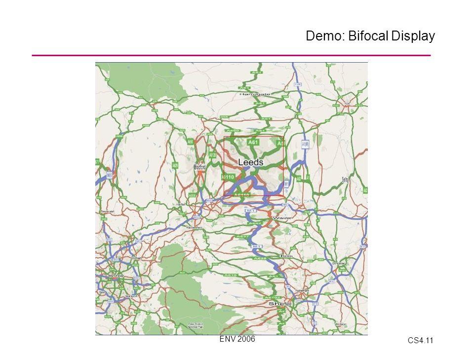 ENV 2006 CS4.11 Demo: Bifocal Display