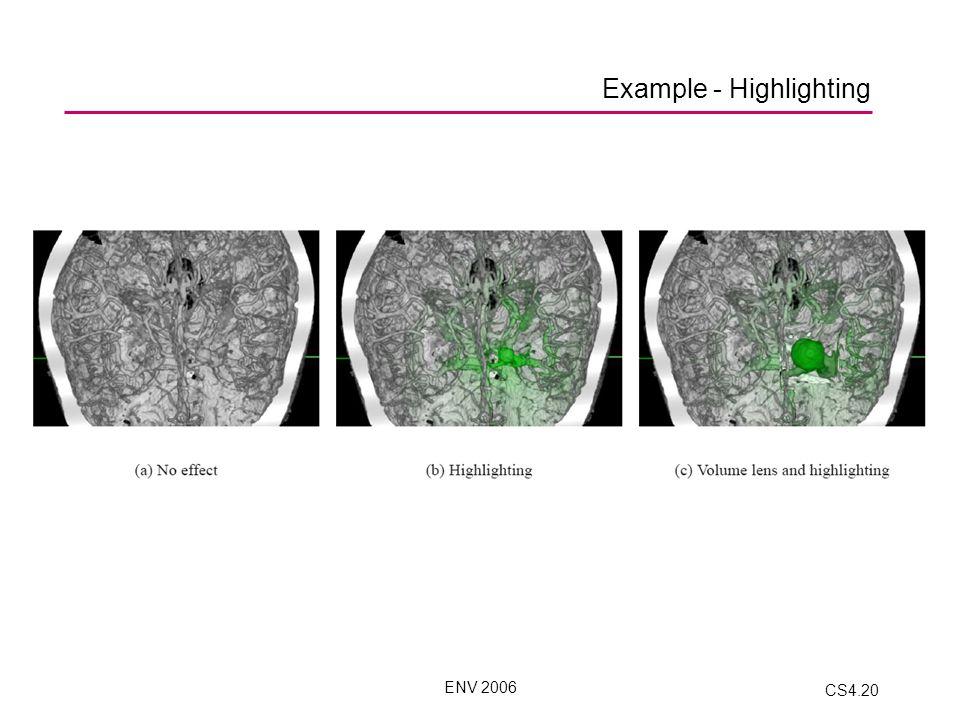 ENV 2006 CS4.20 Example - Highlighting
