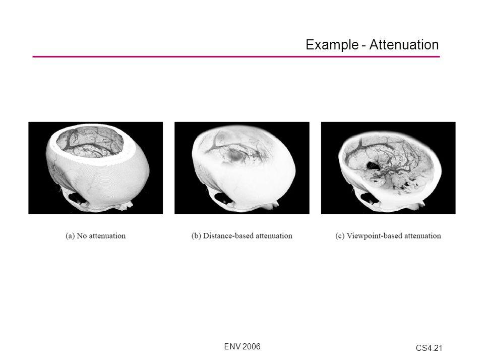 ENV 2006 CS4.21 Example - Attenuation