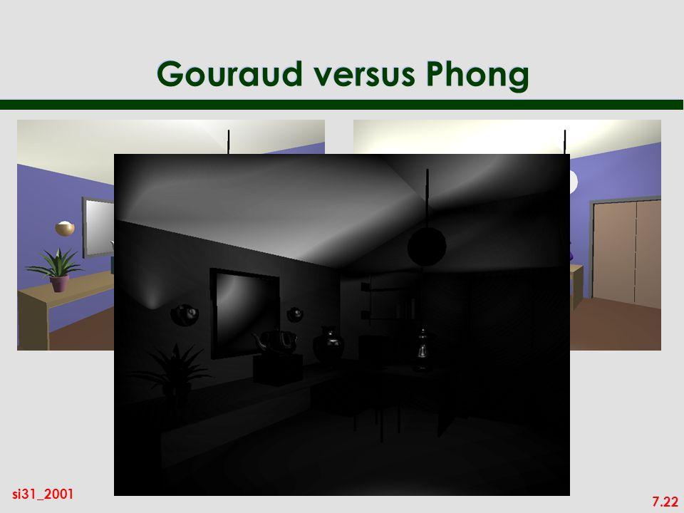 7.22 si31_2001 Gouraud versus Phong