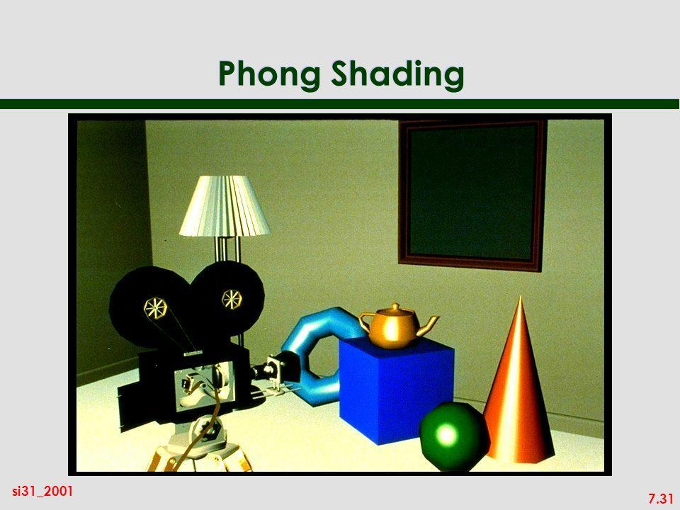 7.31 si31_2001 Phong Shading