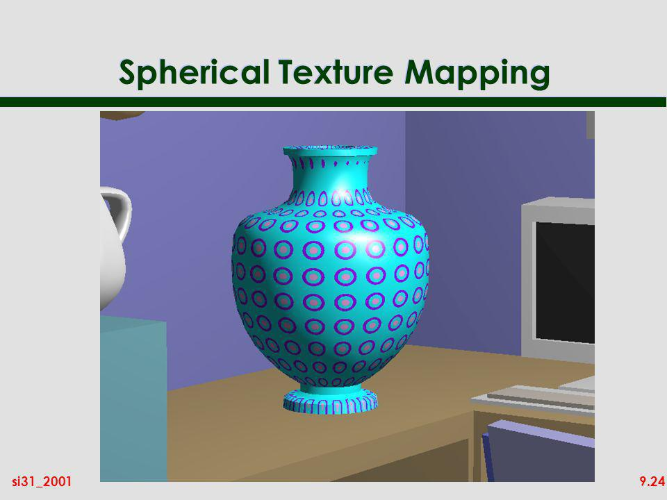 9.24si31_2001 Spherical Texture Mapping