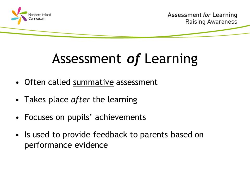 Assessment Of Learning Often Called Summative Assessment Takes