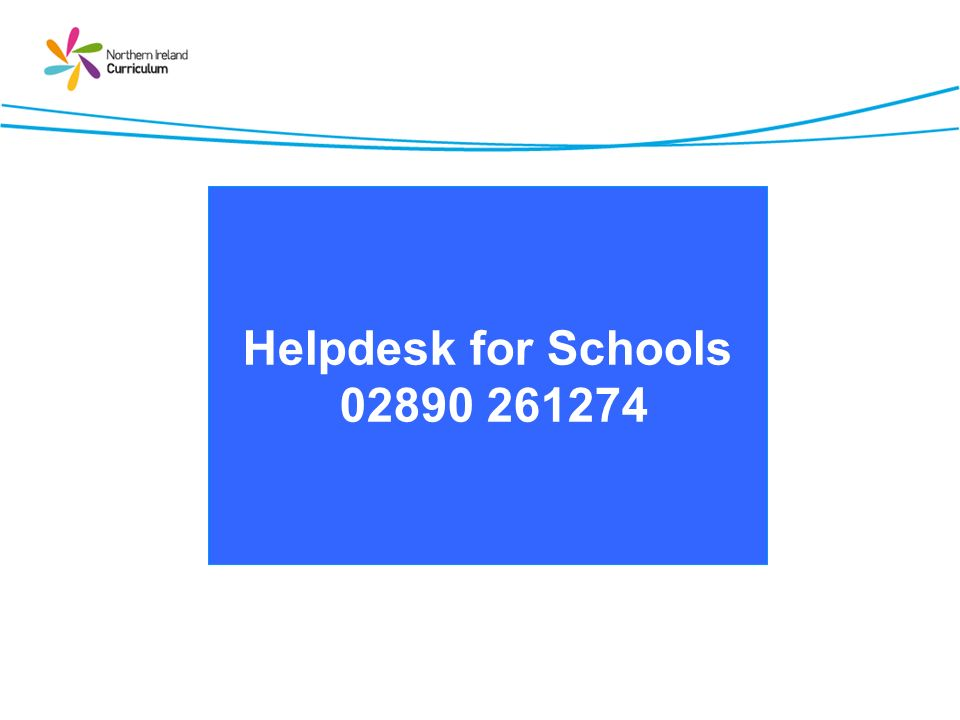 Helpdesk for Schools 02890 261274