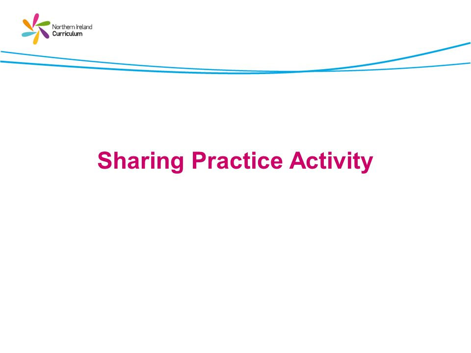 Sharing Practice Activity