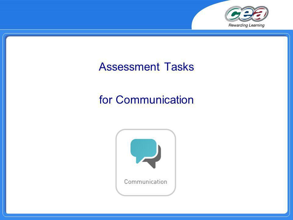 Assessment Tasks for Communication