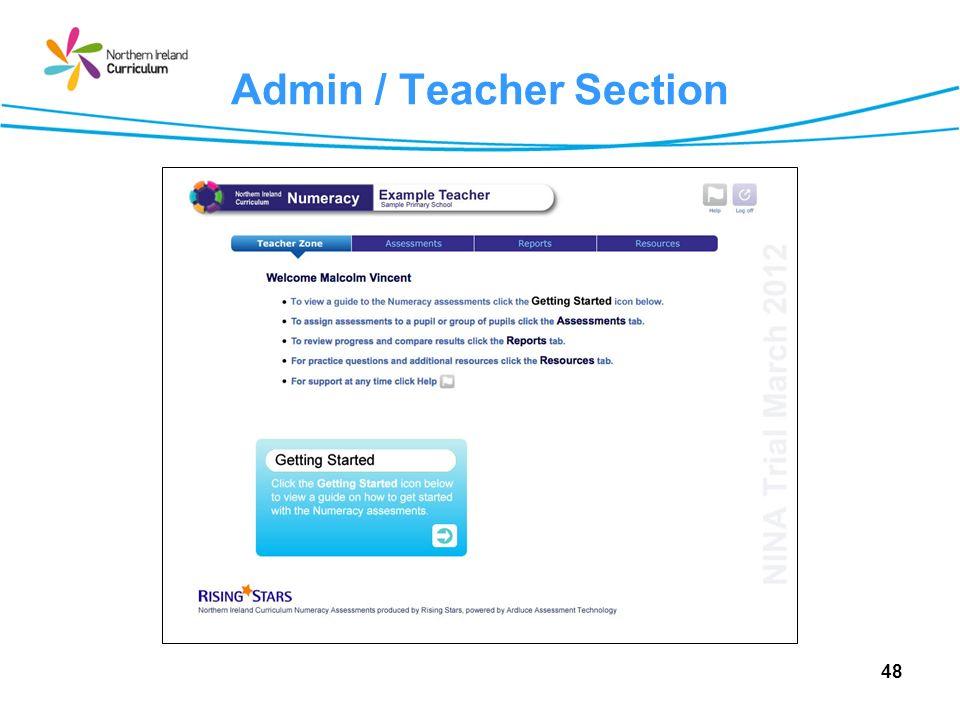 Admin / Teacher Section 48