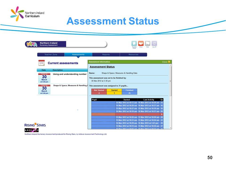 Assessment Status 50