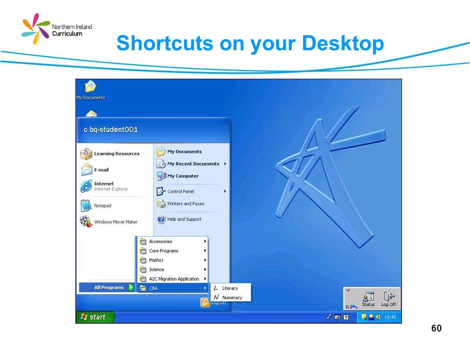 Shortcuts on your Desktop 60
