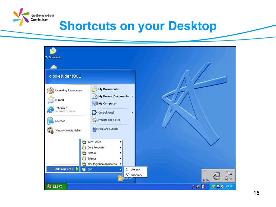 Shortcuts on your Desktop 15
